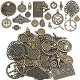 Clock Face Charm Pendant, 100 Gram Multi-style Antiqued...