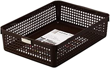 Inomata 4586 Name A4 Basket, Brown