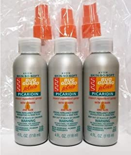 Lot of 3 Avon Skin-So-Soft Bug Guard + Picaridin With Vitamin-E & Aloe Spray Pump 4oz