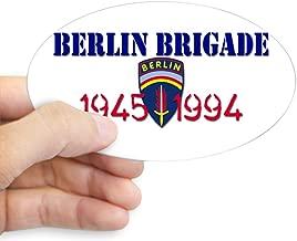 CafePress Berlin Brigade 1945 1994 Oval Bumper Sticker, Euro Oval Car Decal