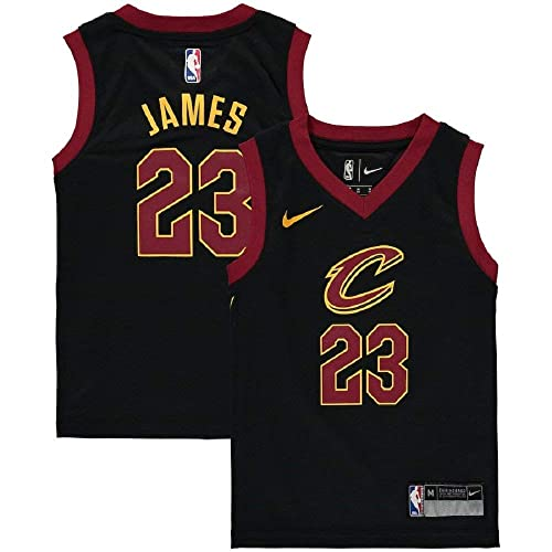 NIKE Lebron James Cleveland Cavaliers NBA Kids 4-7 Black Alternate Icon  Replica Jersey 18981c4ef