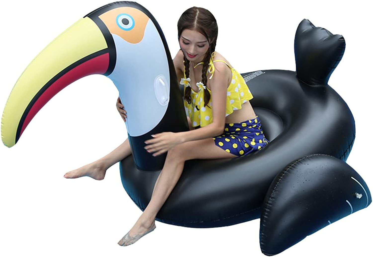 Giant Black Swan Inflatable Float Swimming Ring Swimming pool Adults Water Sports Party Toys