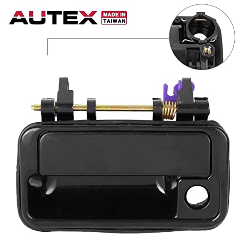 autex 1pc door handle exterior front left driver side compatible with 1989  1990 1991 1992 1993