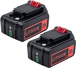 KINGTIANLE 5.0Ah 20V Max Lithium Battery Replacement for Black and Decker 20V Lithium Battery LED Indicator LBXR20 LBXR20-OPE LB20 LBX20 LBX4020 LB2X4020 Cordless Tools Batteries