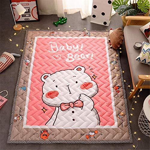 OPLJ Bodentürmatte für Wohnzimmer rutschfeste Küchenmatte Teppich Moderner Küchenteppich Waschbare Fußmatte Home Deco A3 40x60cm