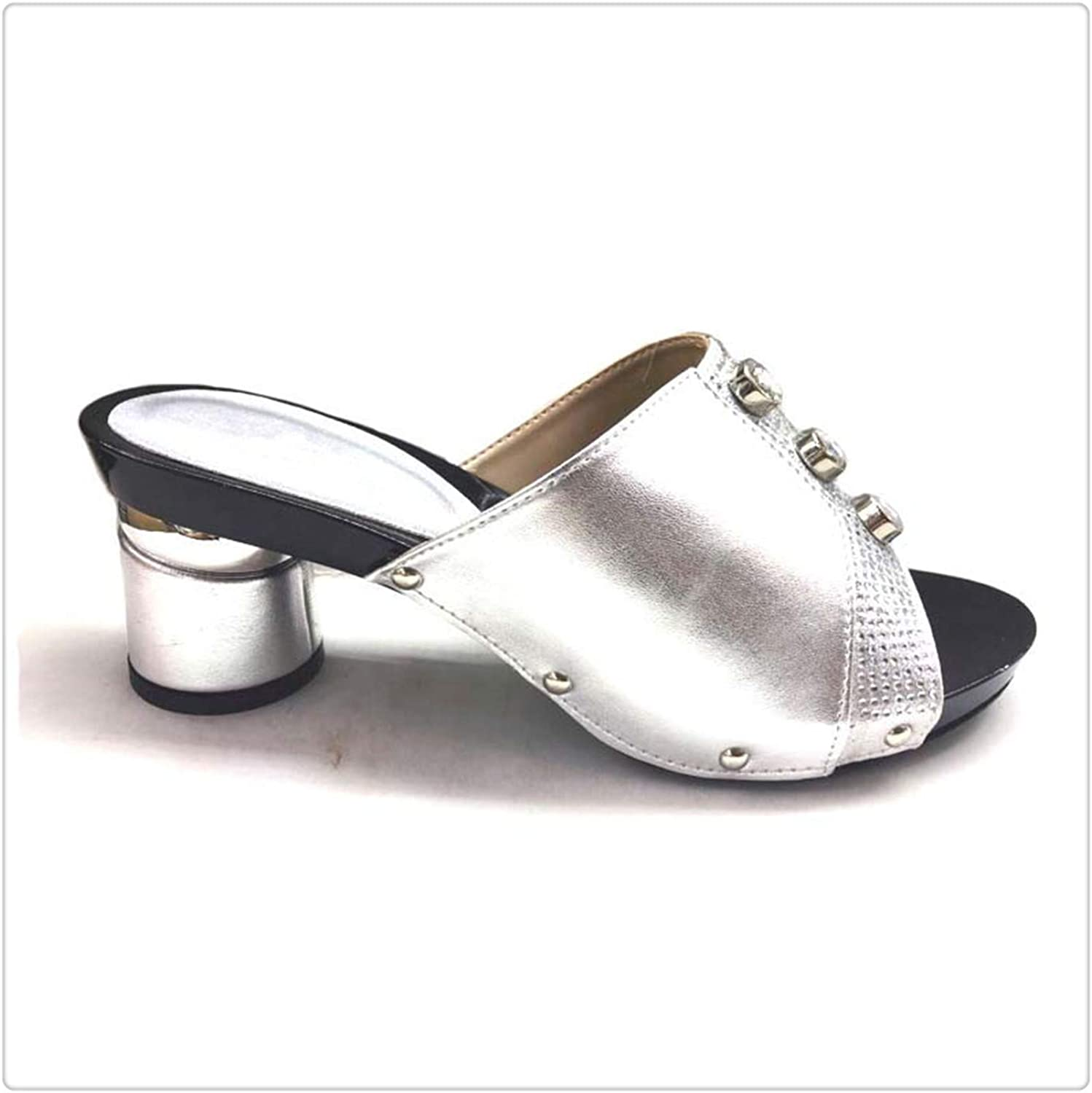 Yyixianma shoes Women Luxury African Women shoes Decorated with Rhinestone