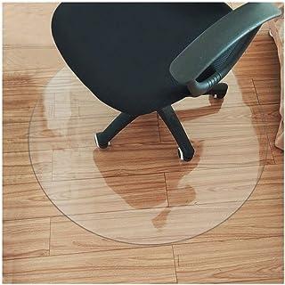 HYCH-Alfombrilla Protectora for Suelo, Redondo Alfombra Plastica Antideslizante Casa Protección De Piso De Madera Dura PVC Translúcido, Cojín para mesa y silla,1mm,90cm