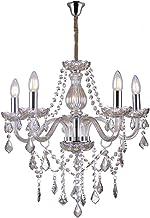 Lustre de Cristal para 5 Lâmpadas E14 Glam Taschibra Conhaque