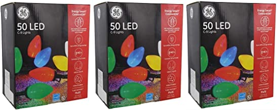 GE Energy Smart 50 Multicolor LED C-9 Holiday/Christmas Lights - 32.6ft String (Indoor/Outdoor) (3)