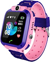 HelloPet S12 Child SmartWatch IP67 Waterproof Children SOS Call Location Finder Smartwatch(LBS Tracking ONLY) (Pink)