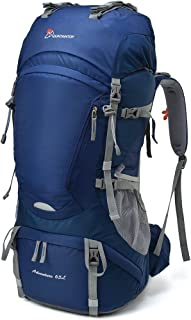 28fc717d4d MOUNTAINTOP 50L 55L 60L 65L Internal Frame Backpack Hiking Backpack with  Rain Cover