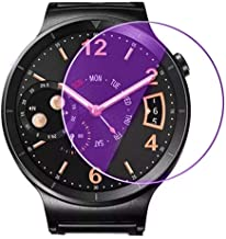 For Fenix5s 35mm Tempered Glass Screen Protector - [2 PACK] Blue Purple Ligh 35mm Tempered Glass Screen Protector for Watch Ticwatch 2 Garmin S60 FENIX5S Fossil Q founder Gen 2 Ticwatch 2 Huawei Watch
