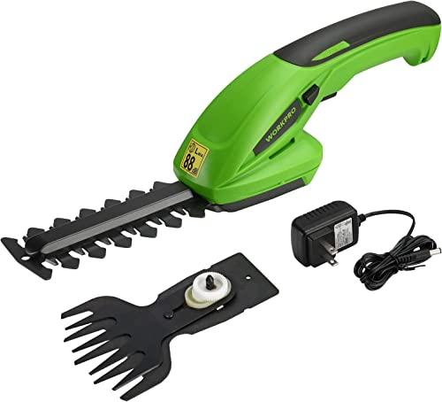 high quality WORKPRO Cordless Grass Shear new arrival & Shrubbery Trimmer - 2 in sale 1 Handheld Hedge Trimmer 7.2V Electric Grass Trimmer Hedge Shears/Grass Cutter Rechargeable Lithium-Ion Battery and Charger Included online