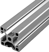 Faztek 15QE1515L Aluminum 6063-16 T-Slotted Light Extrusion with Clear Anodize Finish, 48