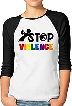 Women's Orlando PuLse Night Club Appeal Stop The Violence 3/4 Sleeve Raglan T-Shirt