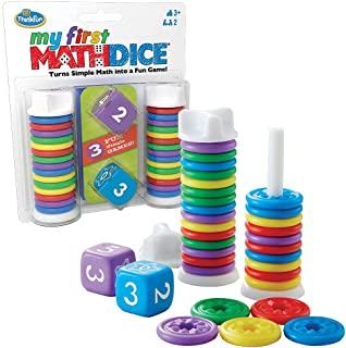 Think Fun - My First Math Dice - Fun Game That Teaches Math and Counting Skills to Kids Age 3 and Up