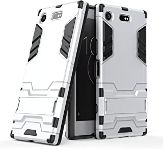 Case for Sony Xperia XZ1 Compact (4.6 inch) 2 in 1 Shockproof with Kickstand Feature Hybrid Dual Layer Armor Defender Prot...