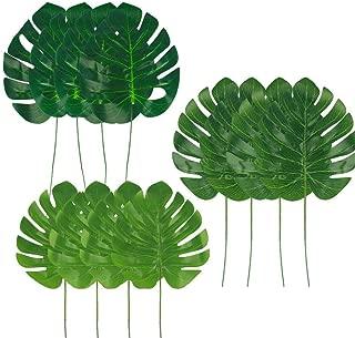 Dragang 36 Pcs 3 kinds Artificial Palm Leaves Tropical Plant Faux Leaves Decorations,Palm Leaf for Party Decorations, Safari Leaves Jungle Party Decorations