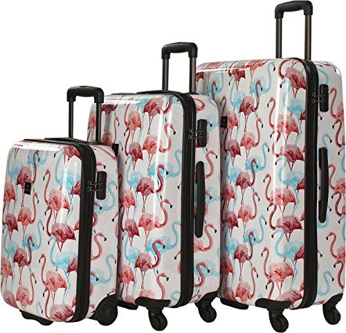 Saxoline Flamingo Maleta (set de 3) flamingo print