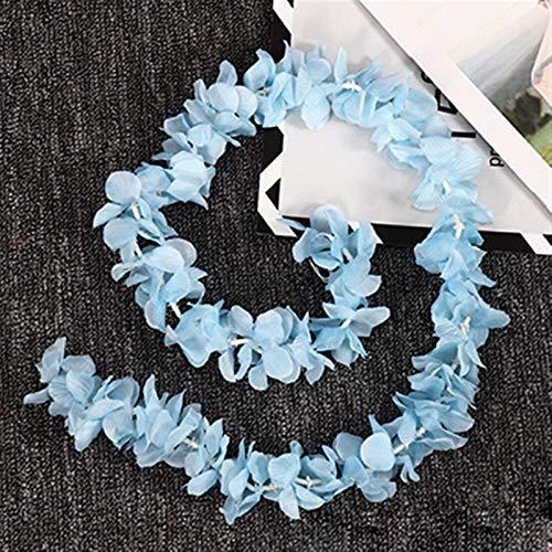 Eternal flower 100CM Artificial Cherry Blossom Vine Silk Flowers Sakura For Party Wedding Ceiling Decor Fake Garland Arch Ivy Diy Party Decor Artificial Flowers (Color : Blue)