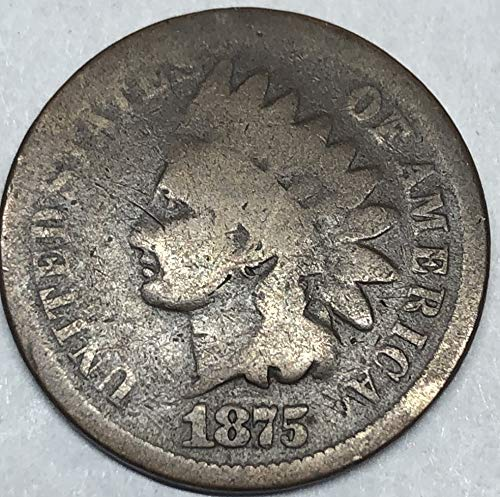 1875 P Indian Head Penny Cent Good