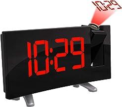 AOZBZ Proyección Techo Reloj de Pared Proyector Digital