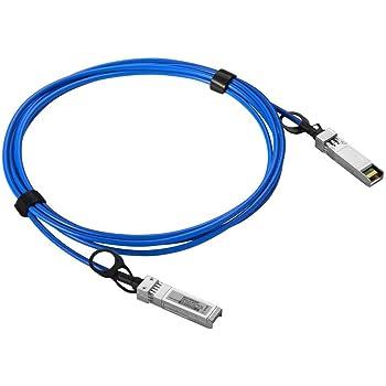 10Gb//s 25-Meter AOC NET-SFP-AOC25M-HPC HPC Optics Compatible with Netgear NET-SFP-AOC25M SFP Active Optical Cable