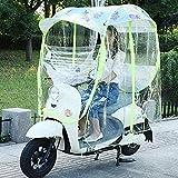 HJJH Universal Motorrad Regenschirm Sonnenschutz Regenschutz, Abdeckung Für Elektromobil, Mobilitätsroller Sonne & Regen Schutz Aus Polyesterschirm Universal, Geschlossener Wasserdichtes