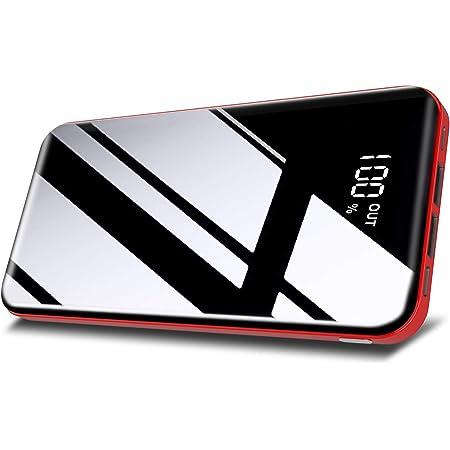 Todamay Batería Externa 26800mAh Power Bank Carga Rápida con 3 Entradas y 2 Puertos USB Cargador Portátil Móvil Ultra Alta Capacidad con Pantalla LCD Digital para Smartphones Tabletas y Más