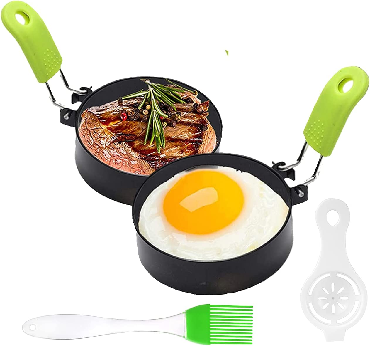 Stainless Steel Egg Ring 2 Breakfast Pcs Mol Max 90% OFF Round Recommended Household