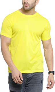 Scott International AWG - All Weather Gear Men's Polyester Round Neck T-Shirt - Yellow