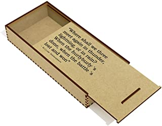 Quote by William Shakespeare Wooden Pencil Case / Slide Top Box (PC00014997)