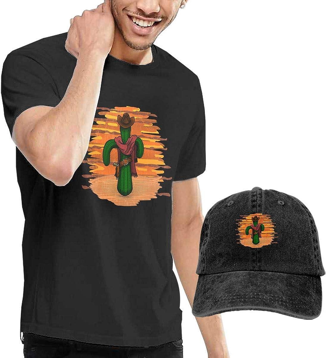 Henrnt Camiseta para Hombre,Tops y Camisas Sunset Cowboy ...