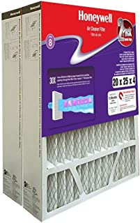 Honeywell CF408F2025/E 20 in. x 25 in. x 4 in. Pleated Air Cleaner Replacement Filters (2-Pack)