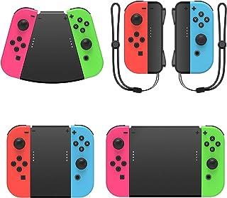 MENEEA 5 in 1 Handle Dragonne Compatible avec Nintendo Switch JoyCon et Other Non Original Contrôleur Comfortable Grip Con...