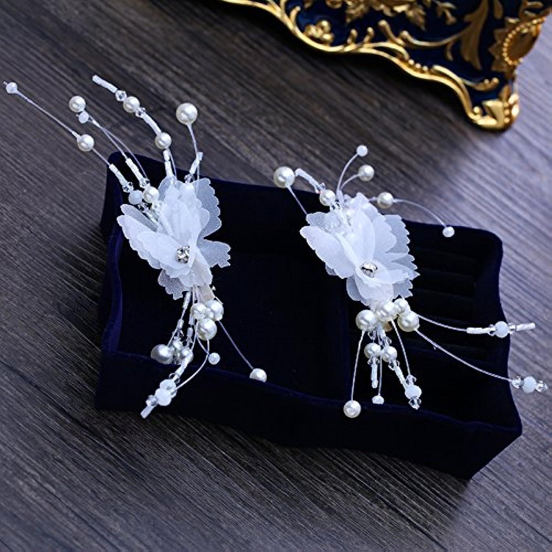 GTVERNHThe Bride Headdress Butterflies Flowers Hand Flowers Clip On Hair Clips Wedding Accessories