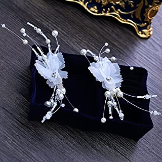 Olici Bridal Wedding/Prom Hair Pins/Headdress Accessories/Party/Girls Butterflies Flowers Hand Flowers Clip On Clips