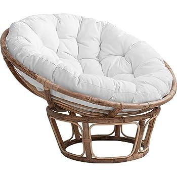 RICHLN Morbido Rimovibile Appeso Egg Chair Pad per Sedia A Dondolo Pad Appeso Amaca,Interna AllAperto Terrazza Giardino,Rotondo Poltrona Papasan Cuscino Grigio Diameter110cm 43inch