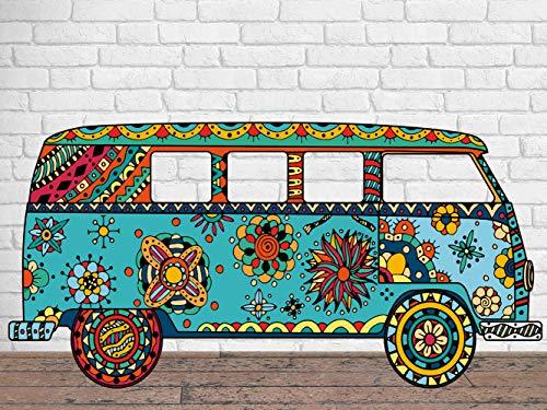 Photocall para Bodas en Cartón Furgoneta Hippie 300X150cm | Photocall Furgoneta Hippie | Photocall Económico y Original | Photocall Troquelado