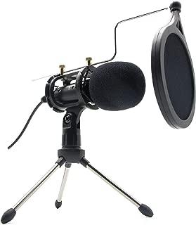 マイクコンデンサマイク スマホ usbマイマイク 高音質 ゲーム実況 スタンドマイク スマホマイク マイクロフォン 小型 三脚スタンド付き Android/iPhone/PC/iPadに対応 卓上マイク PCマイク マイクロフォン PCボーカル用 カラオケ機器 270℃調整可能 レコーディングカラオケ機器 集音マイク 全指向性 生放送 集音 録音 会議用