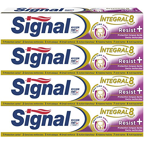 Signal Dentifrice Integral 8 Resist Plus 75ml - Lot de 4