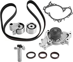 Qiilu Timing Belt Water Pump Kit for Lexus 1994-2003, Toyota 1994-2004, Timing Belt Valve Cover Gasket for ES300 RX300 Avalon Camry Sienna Solara, OE Number TCKWP257