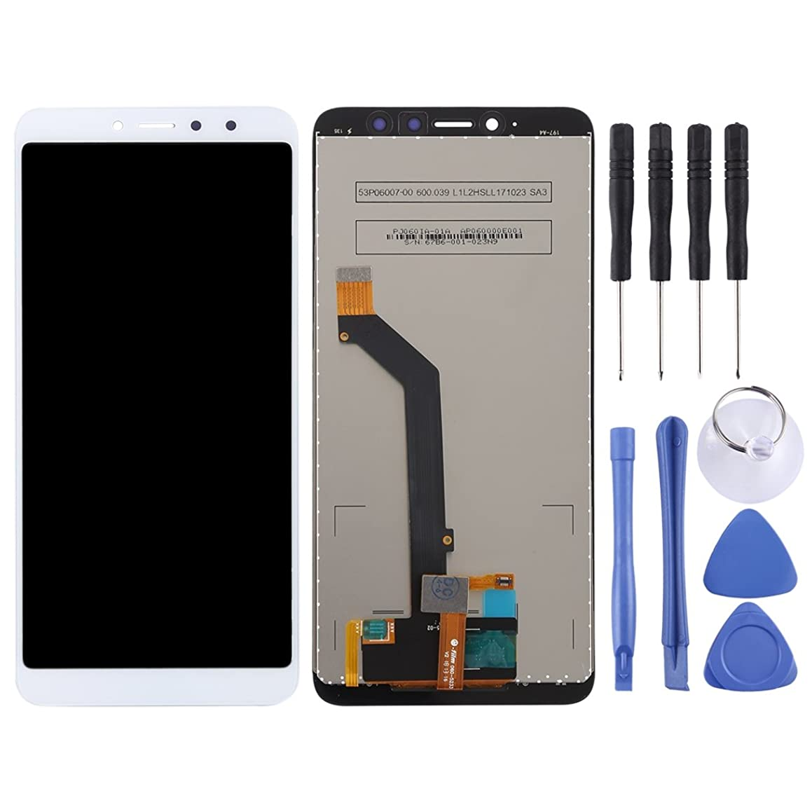 Jiangym Mobile Phone LCD Screen LCD Screen and Digitizer Full Assembly for Xiaomi Redmi S2 (Black) LCD Screen (Color : White)
