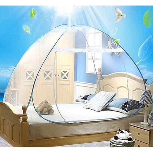 Cama doble de viaje Yurt mosquitera Mosquitera impregnada de cama para viajeros y excursionistas de interior