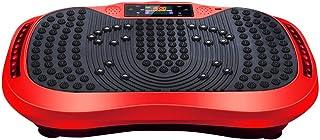 HY Placa de vibración de Fitness - Crazy Fit Massage Placa de Potencia de vibración oscilante de Fitness - 120 velocidades, 200W Silent Drive Motor, empuñadura con Rueda, 5 programas de Ejercicios
