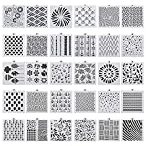 hugttt 30 Pieces Cookie Stencil Cake Baking Templates Molds Cake Decorating Stencils for Cookie Cupcake Fondant Crafts Decor