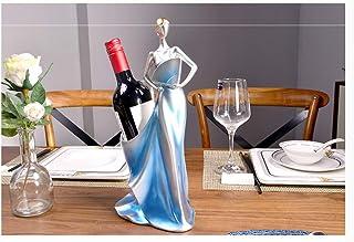 Statues TAO Personnalité créative rétro Salon Armoire à vin Meuble TV décoration de Bureau Porte-Bouteilles de vin (Color ...