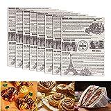 XGzhsa Papel de envolver alimentos, 100 hojas de papel encerado a prueba de grasa, papel de envolver para hornear para el hogar, restaurante, panadería, sándwich, hamburguesa de pan (38 x 28 cm)