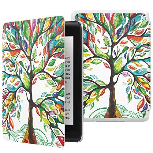 MoKo Hülle für Kindle Paperwhite E-Reader, Die dünnste und leichteste Schutzhülle Smart Cover mit Auto Sleep/Wake für Amazon Kindle Paperwhite (10. Generation – 2018) - Glück Baum