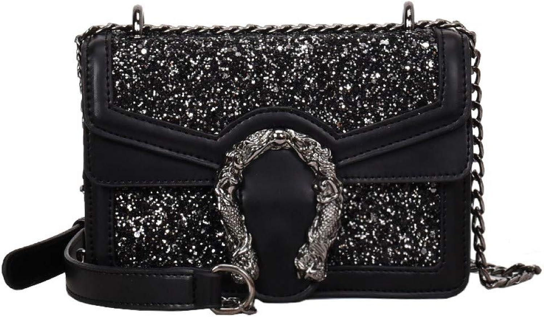 Limotai Handbag Handtasche Pailletten Ladies Ladies Ladies Messenger Bag Metall Schnalle Damen Retro Flip Schultertasche Handtasche B07L8ZC6XW  Optimaler Preis c39417
